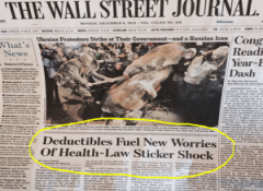 WSJ say deductibles ar on the rise